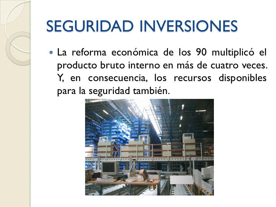 SEGURIDAD INVERSIONES La reforma económica de los 90 multiplicó el producto bruto interno en más de cuatro veces.