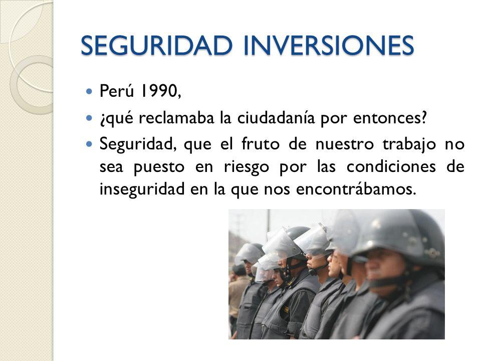 SEGURIDAD INVERSIONES Perú 1990, ¿qué reclamaba la ciudadanía por entonces.