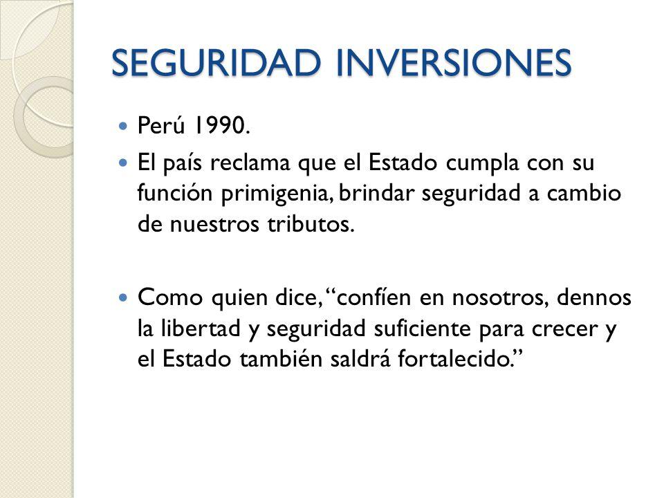 SEGURIDAD INVERSIONES Perú 1990.