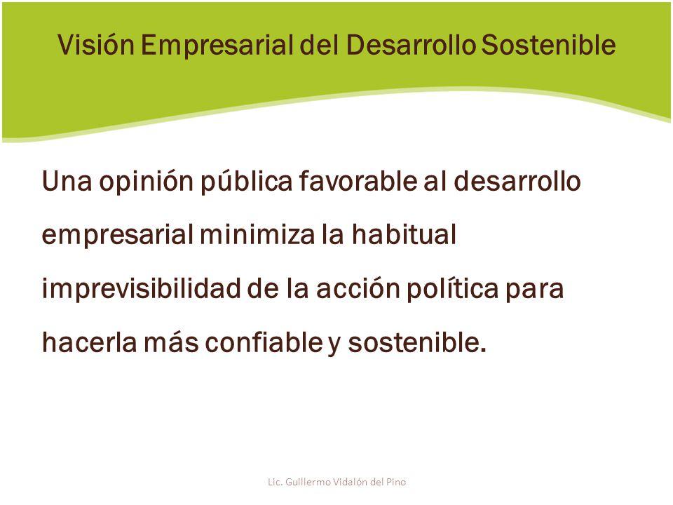Una opinión pública favorable al desarrollo empresarial minimiza la habitual imprevisibilidad de la acción política para hacerla más confiable y sostenible.