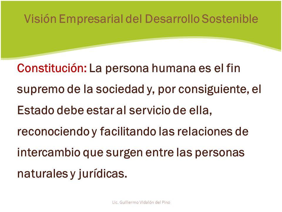Constitución: La persona humana es el fin supremo de la sociedad y, por consiguiente, el Estado debe estar al servicio de ella, reconociendo y facilitando las relaciones de intercambio que surgen entre las personas naturales y jurídicas.