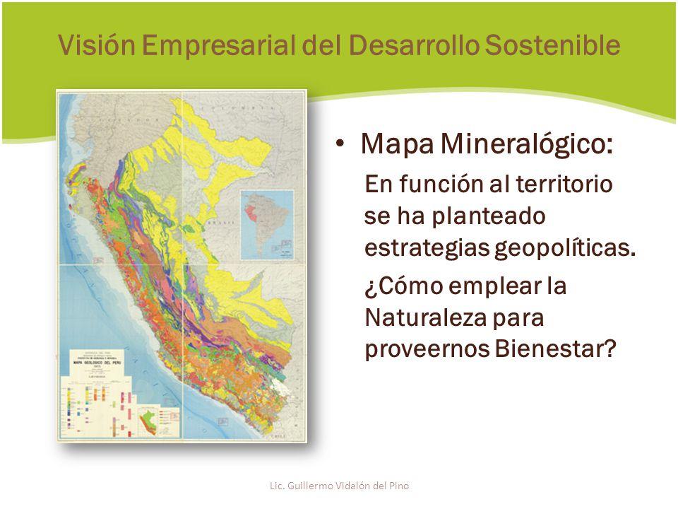 Mapa Mineralógico: En función al territorio se ha planteado estrategias geopolíticas.