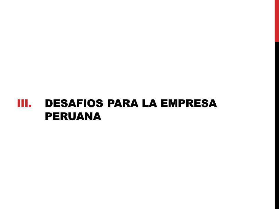 III.DESAFIOS PARA LA EMPRESA PERUANA