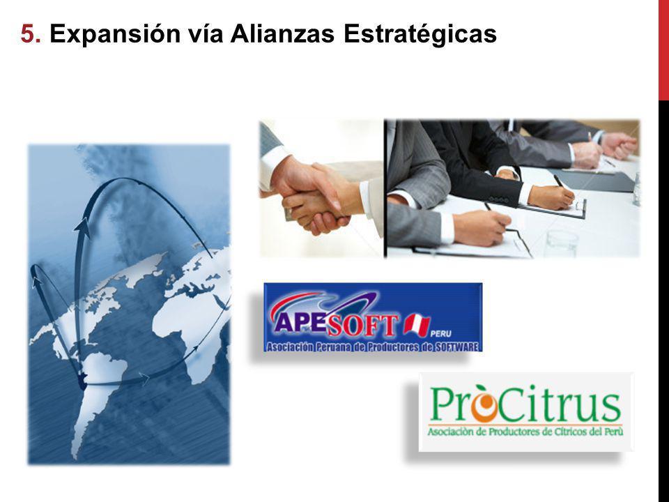 5. Expansión vía Alianzas Estratégicas vía Alianzas Estratégicas