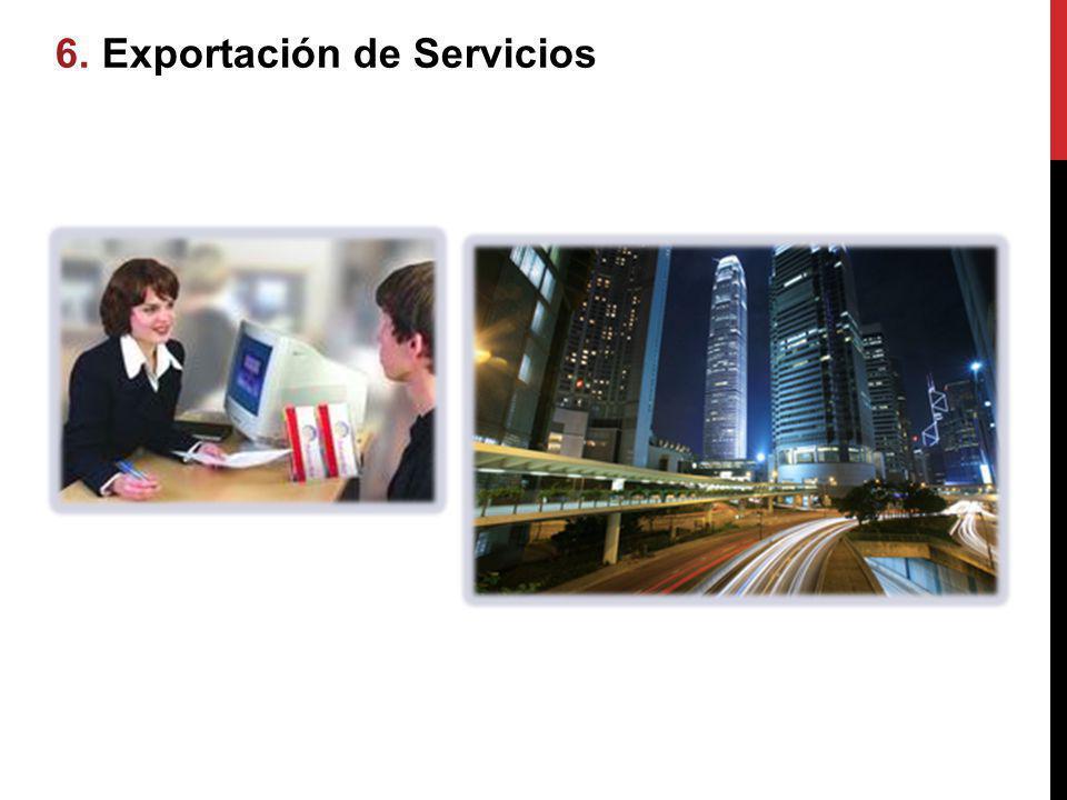 6.6. Exportación de Servicios ación de Servicios