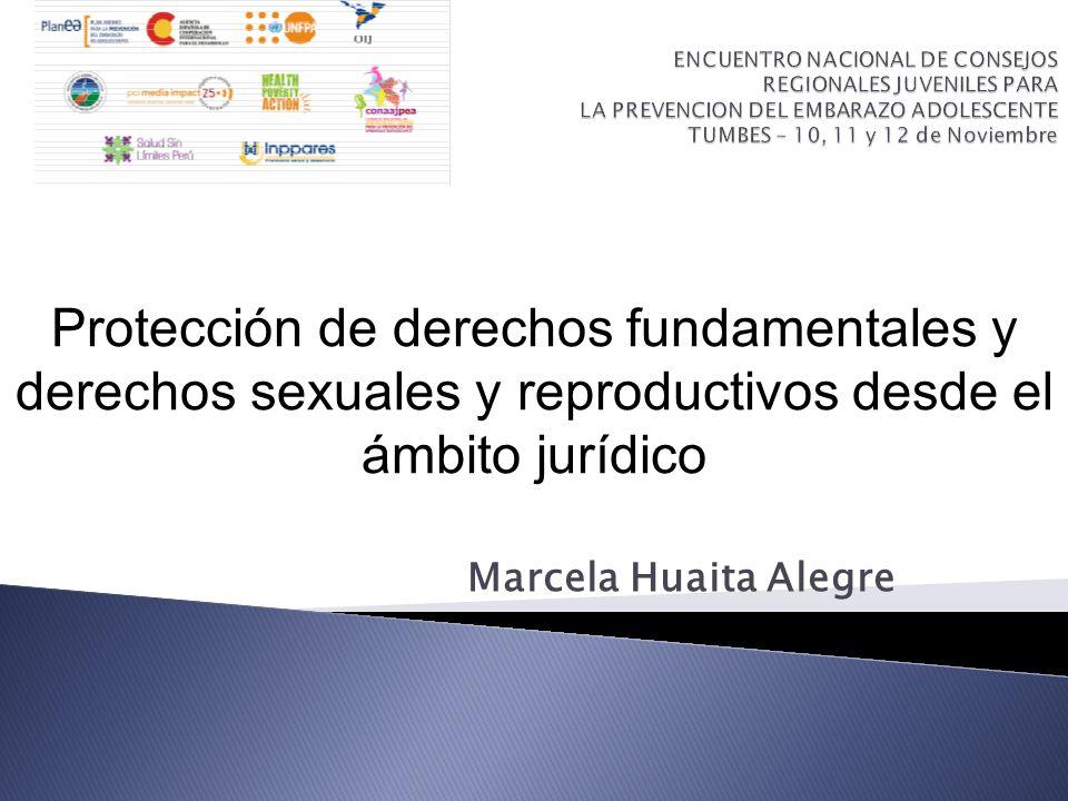 Marcela Huaita Alegre Protección de derechos fundamentales y derechos sexuales y reproductivos desde el ámbito jurídico