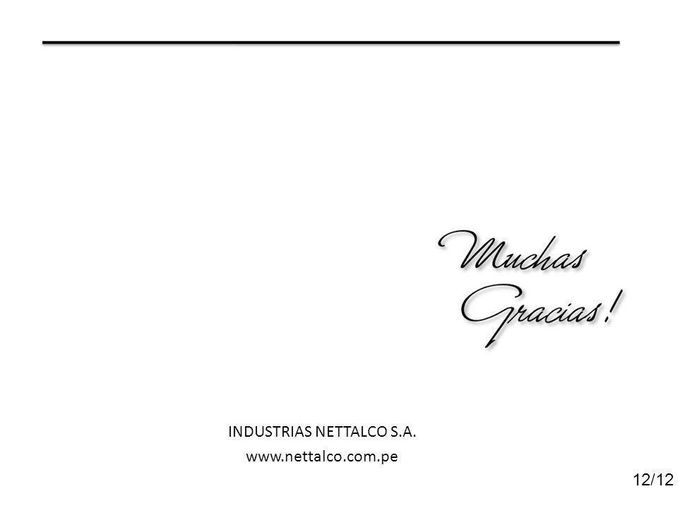 12/12 INDUSTRIAS NETTALCO S.A. www.nettalco.com.pe
