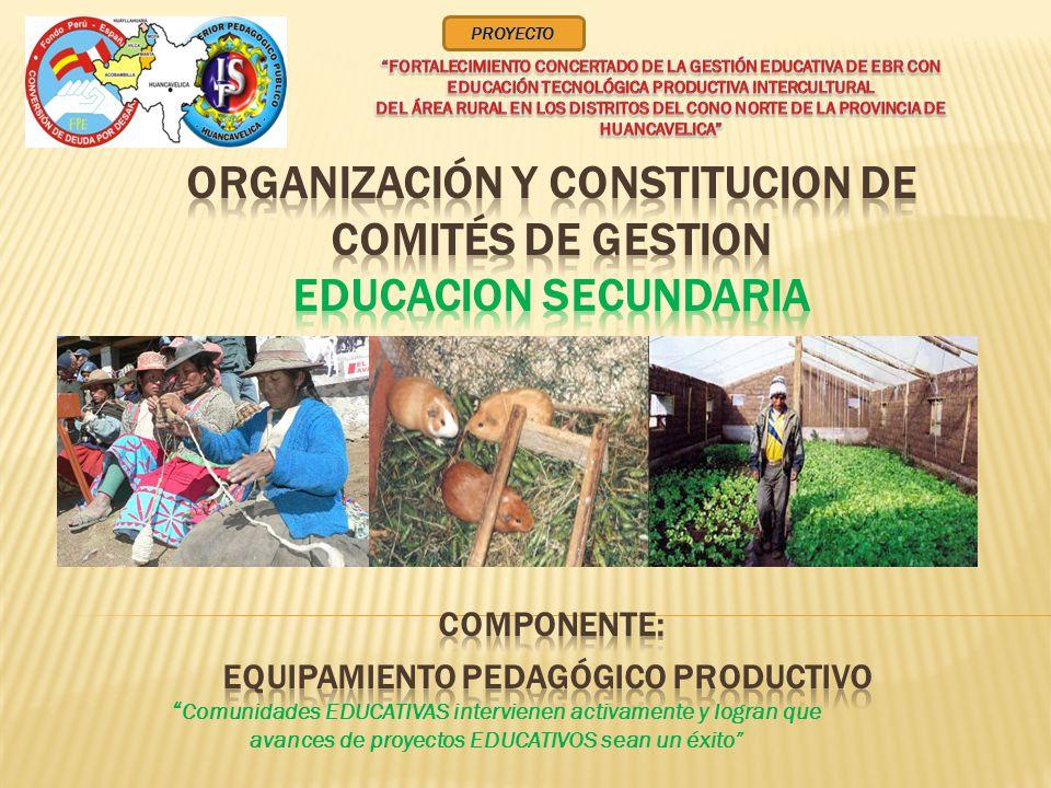 Comunidades EDUCATIVAS intervienen activamente y logran que avances de proyectos EDUCATIVOS sean un éxito PROYECTO