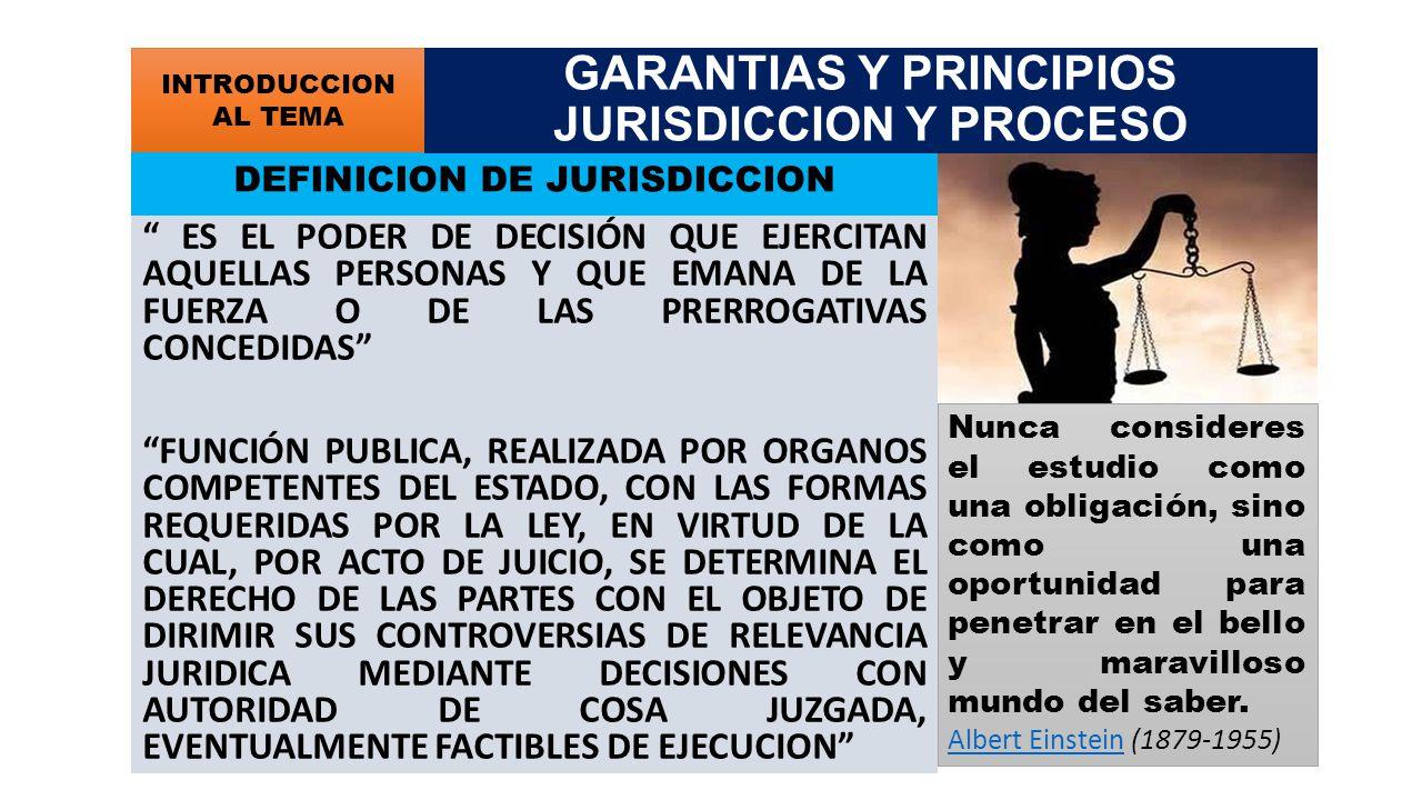 INDEPENDENCIA DE LA FUNCION JURISDICCIONAL PERSPECTIVAS COMO GARANTIA DEL ORGANO QUE ADMINISTRA JUSTICIA (INDEPENDENCIA ORGANICA) (AUTONOMIA) COMO CAPACIDAD SUBJETIVA (VOLUNTAD PARA EJERCER Y DEFENDER LA INDEPENDENCIA) COMO GARANTIA OPERATIVA PARA LA ACTUACION DEL JUEZ (INDEPENDENCIA FUNCIONAL) GARANTIAS Y PRINCIPIOS JURISDICCION Y PROCESO GARANTIAS DE LA FUNCION JURISDICCIONAL