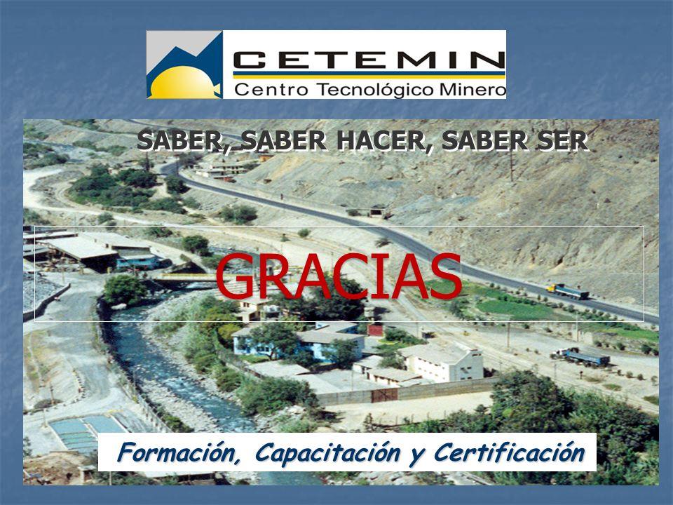 Formación, Capacitación y Certificación Formación, Capacitación y Certificación SABER, SABER HACER, SABER SER GRACIAS