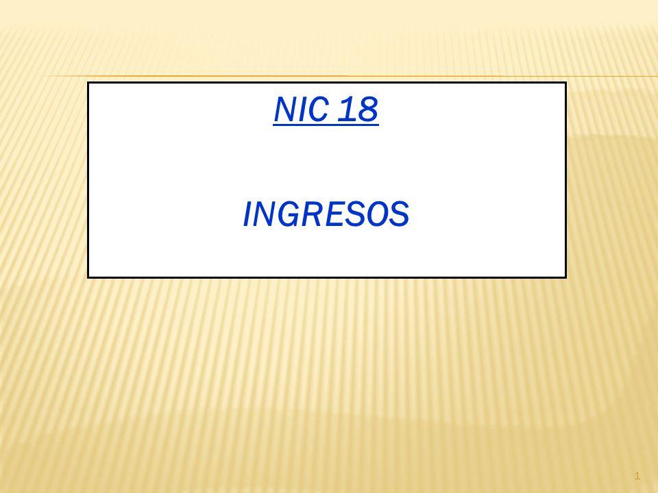 NIC 18 INGRESOS 1