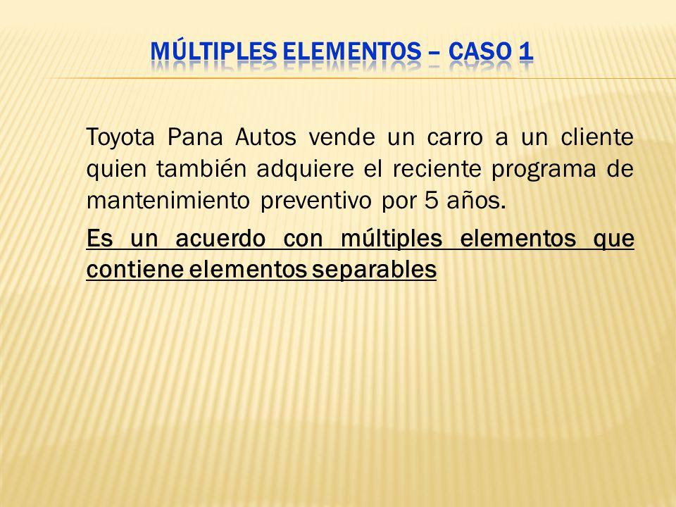 Toyota Pana Autos vende un carro a un cliente quien también adquiere el reciente programa de mantenimiento preventivo por 5 años. Es un acuerdo con mú