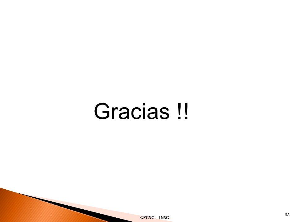 Gracias !! 68 GPGSC - INSC
