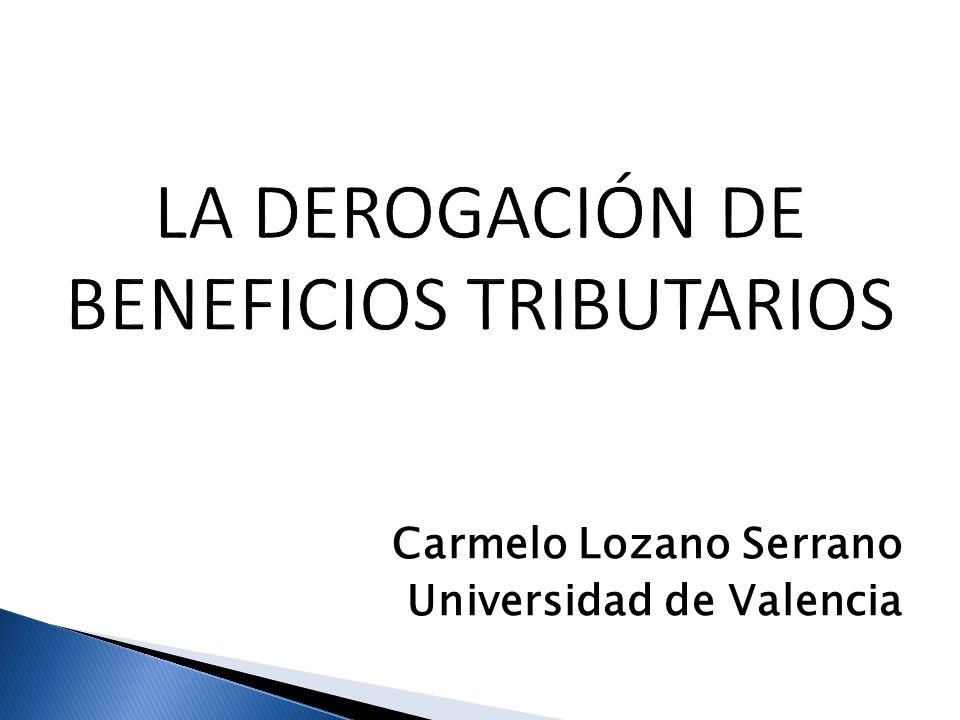Carmelo Lozano Serrano Universidad de Valencia