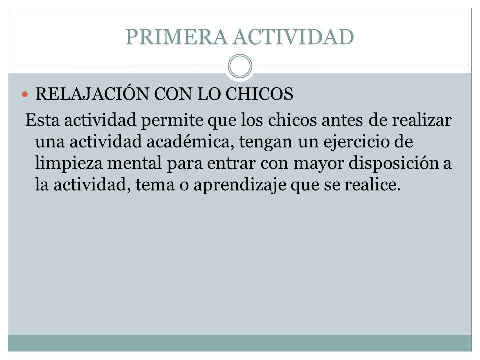 SEGUNDA ACTIVIDAD EJERCICIO DE ATENCIÓN – CONCENTRACIÓN.