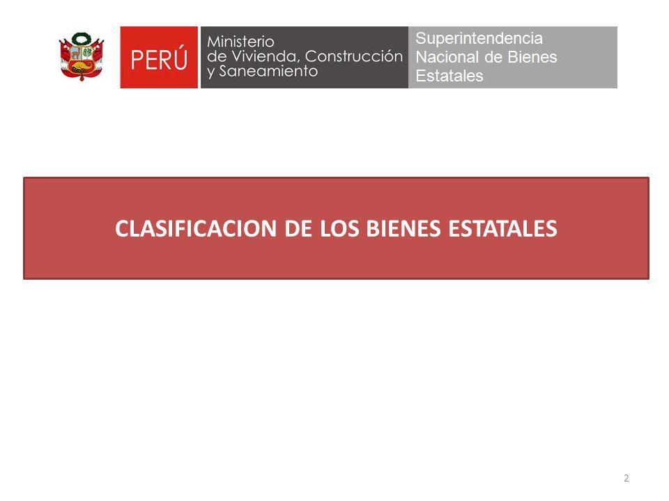 2 CLASIFICACION DE LOS BIENES ESTATALES
