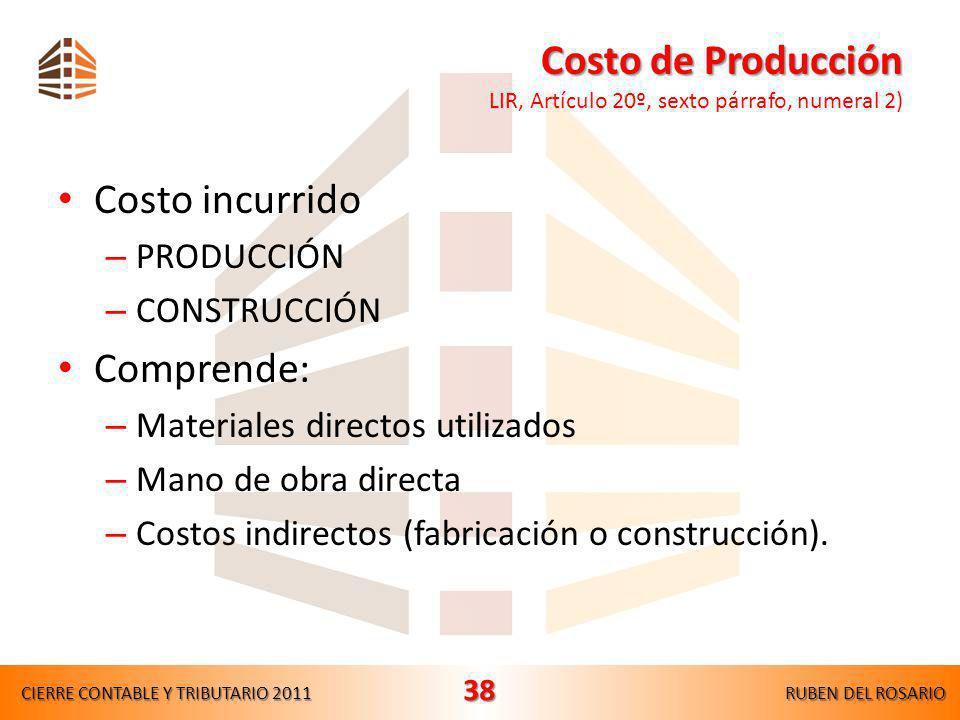 Intereses excluidos del costo de adquisición Intereses excluidos del costo de adquisición LIR, Artículo 20º, sexto párrafo, numeral 1) En ningún caso
