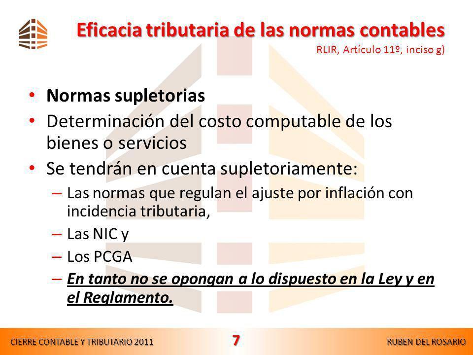 Mermas de existencias CIERRE CONTABLE Y TRIBUTARIO 2011RUBEN DEL ROSARIO 47