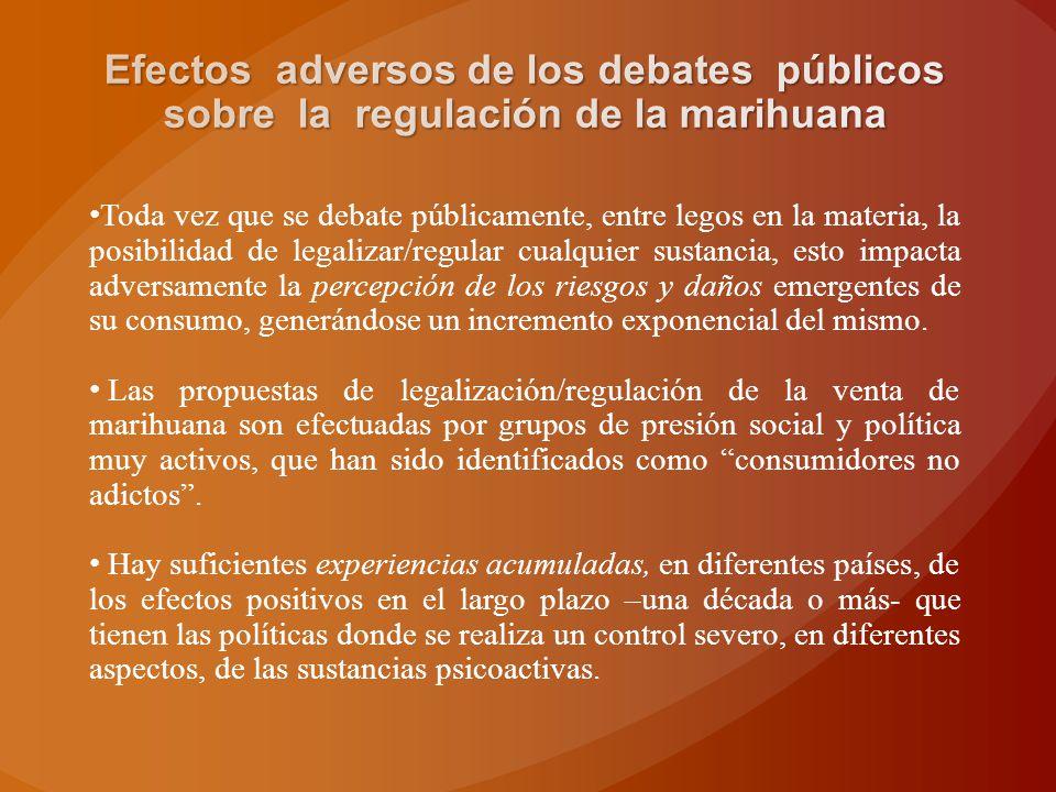 Toda vez que se debate públicamente, entre legos en la materia, la posibilidad de legalizar/regular cualquier sustancia, esto impacta adversamente la