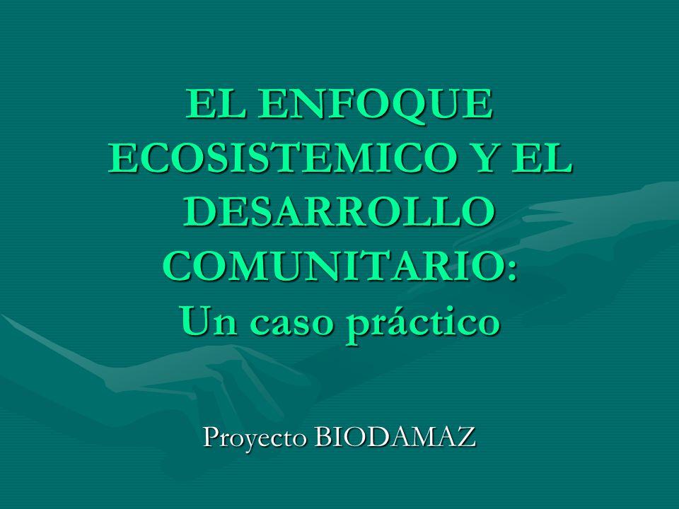 EL ENFOQUE ECOSISTEMICO Y EL DESARROLLO COMUNITARIO: Un caso práctico Proyecto BIODAMAZ