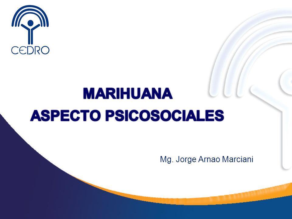 Aspectos Psicosociales -La permisividad social incide en ser la droga ilegal más consumida en el Perú y otros países de la Región.