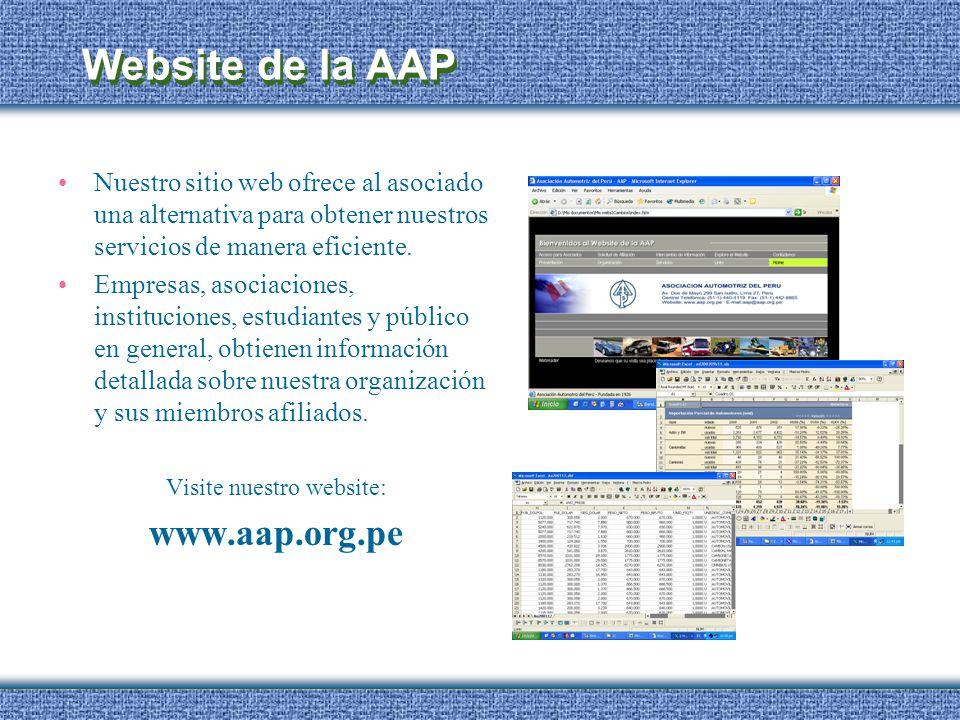 Website de la AAP Nuestro sitio web ofrece al asociado una alternativa para obtener nuestros servicios de manera eficiente. Empresas, asociaciones, in