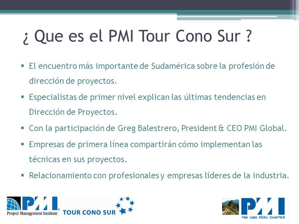 ¿ Que es el PMI Tour Cono Sur .