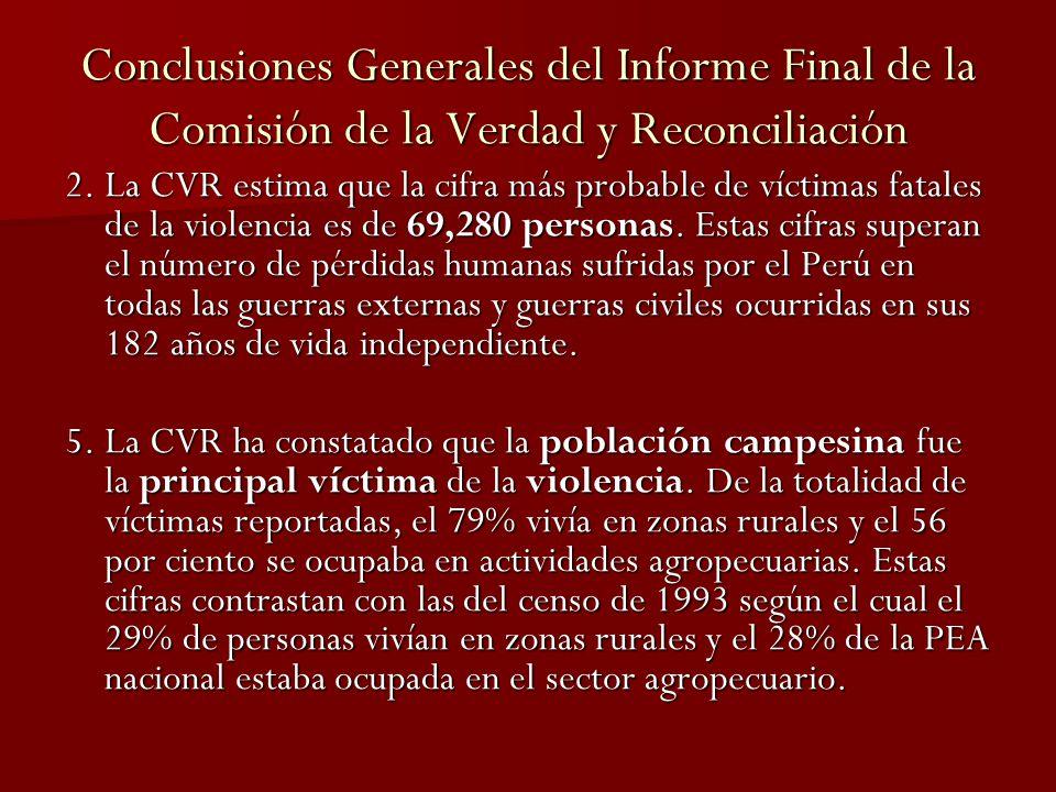 Conclusiones Generales del Informe Final CVR 6.
