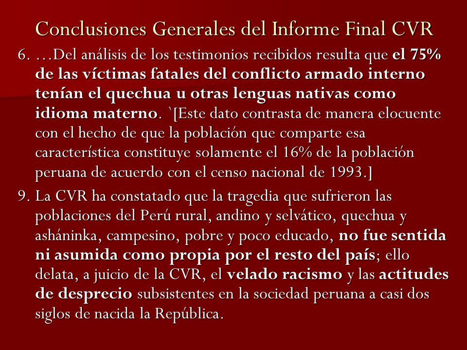 Epílogo A diferencia de otros casos de la década de los 80s (Accomarca por ejemplo), en el caso Cayara no hubo un solo militar procesado o que siquiera haya sido dado de baja o defenestrado.