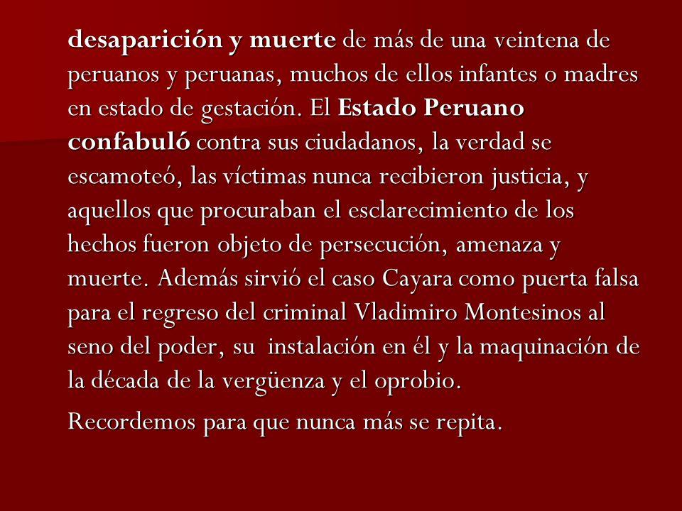 Las investigaciones La investigación de la Fiscalía de la Nación.