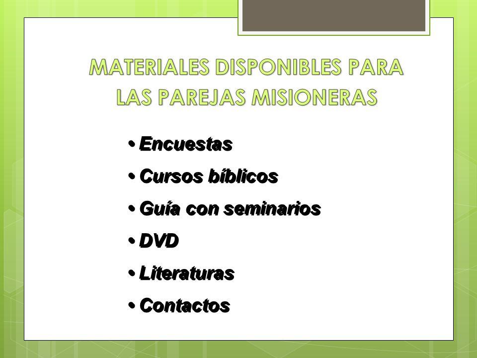 Encuestas Cursos bíblicos Guía con seminarios DVD Literaturas Contactos Encuestas Cursos bíblicos Guía con seminarios DVD Literaturas Contactos