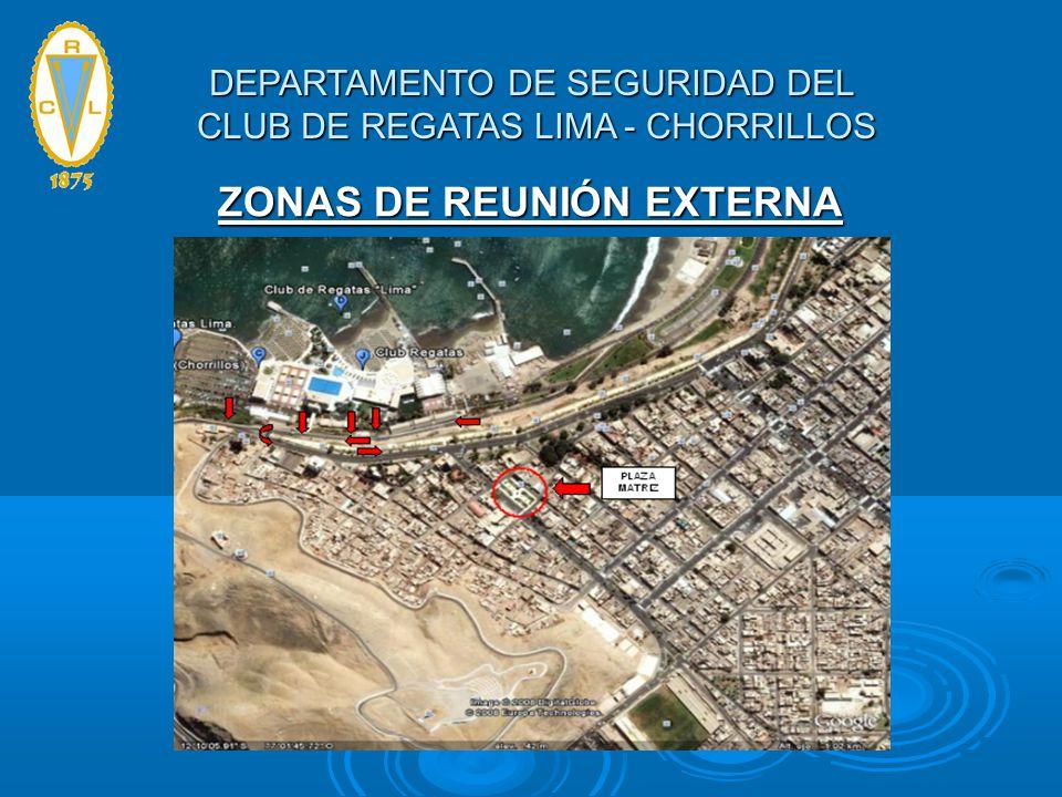 ZONAS DE REUNIÓN EXTERNA DEPARTAMENTO DE SEGURIDAD DEL CLUB DE REGATAS LIMA - CHORRILLOS
