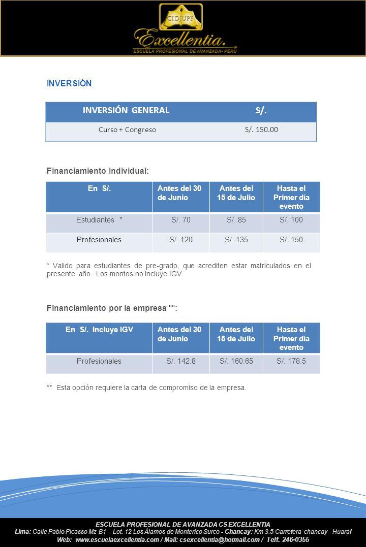 PROGRAMA SEDE: Huaral: Centro de Convenciones Excellentia Dirección Km 3.5 Autopista Chancay – Huaral (Quepepampa) HORA22 JULIO23 JULIO24 JULIO25 JULI
