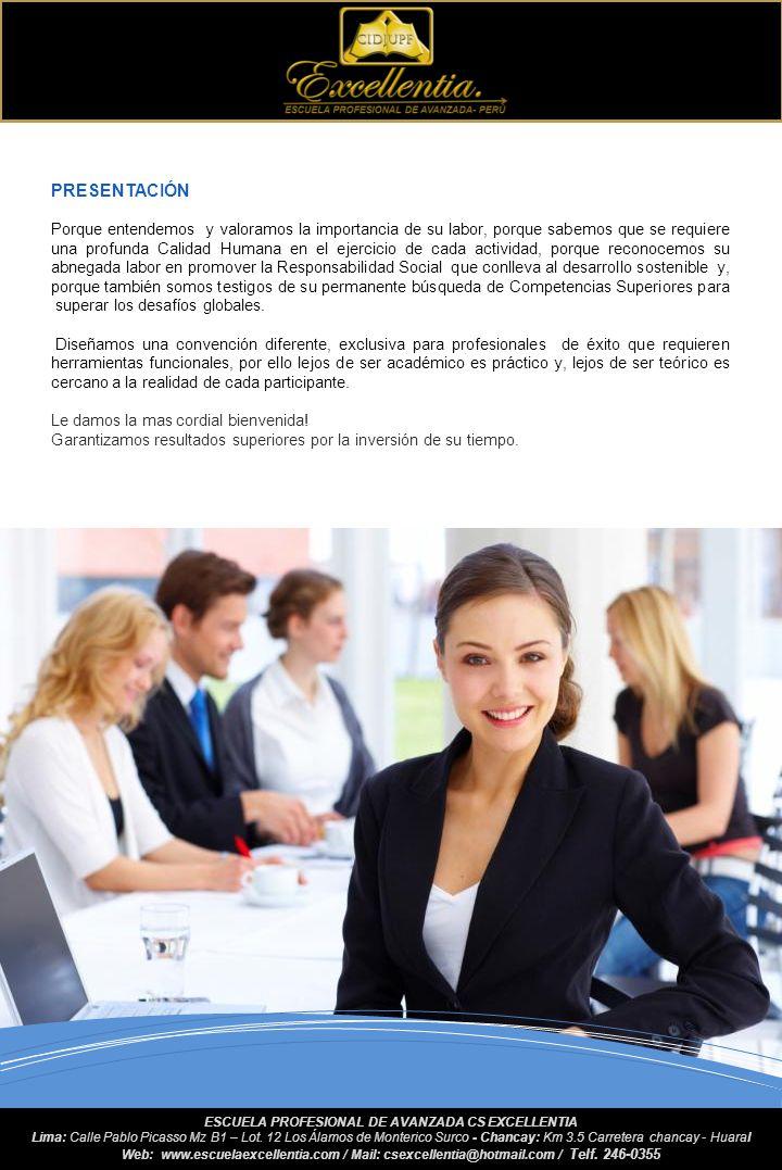 GENERALIDADES 1.- Ente Organizador Escuela Profesional de Avanzada CS EXCELLENTIA - PERÚ. 2.- Acreditación Nacional Universidad Nacional José Faustino