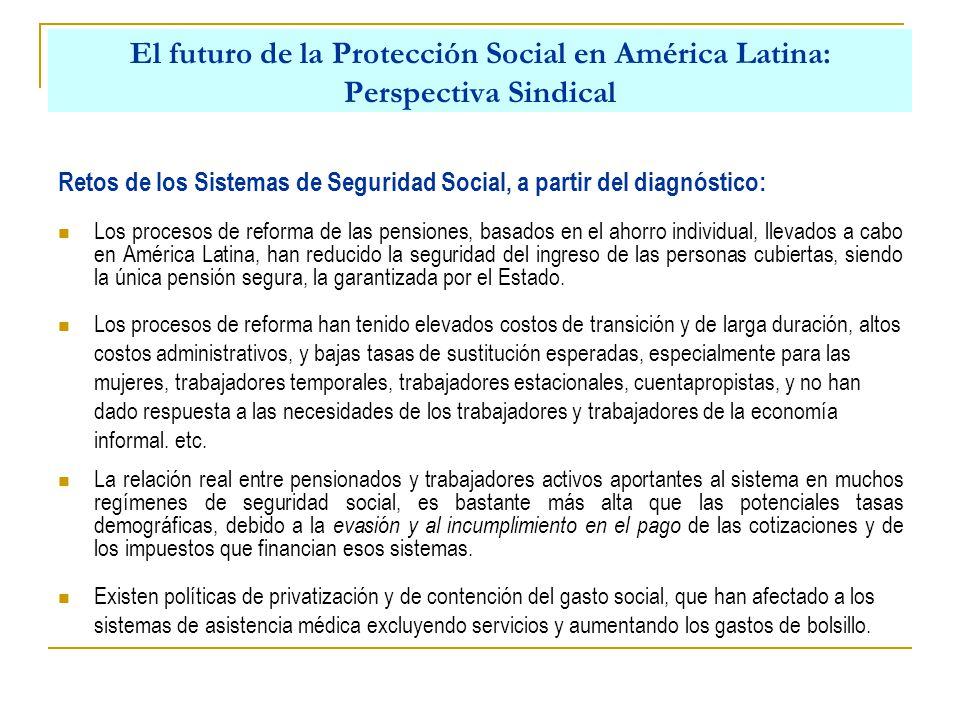 El futuro de la Protección Social en América Latina: Perspectiva Sindical La función prioritaria del Estado es extender la cobertura de la seguridad social a todos los ciudadanos, a través de un modelo de seguridad social integral, de responsabilidad pública y universal.