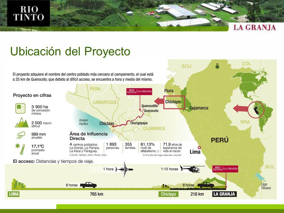 Geología: Información Actual Cambior y BHP Billiton generaron información de los 329 taladros, con aproximadamente 110,000 metros de perforación.