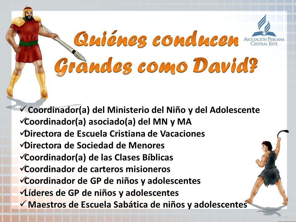 Coordinador(a) del Ministerio del Niño y del Adolescente Coordinador(a) asociado(a) del MN y MA Directora de Escuela Cristiana de Vacaciones Directora