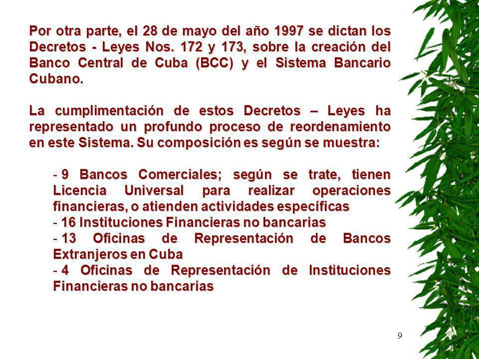 10 - En reunión efectuada en el año 2000 con las empresas más contaminadoras del país, se trató sobre la posibilidad de que el sistema bancario pudiese ofrecer condiciones diferentes para las inversiones del medio ambiente, en cuanto a las condiciones de los préstamos.