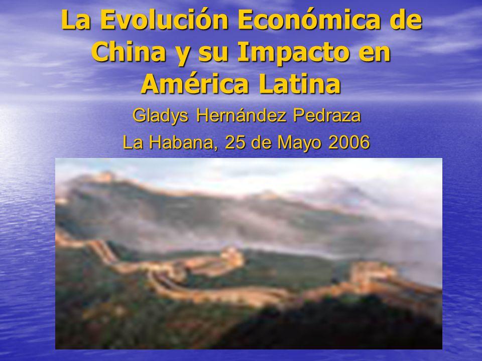 La Evolución Económica de China y su Impacto en América Latina Gladys Hernández Pedraza La Habana, 25 de Mayo 2006