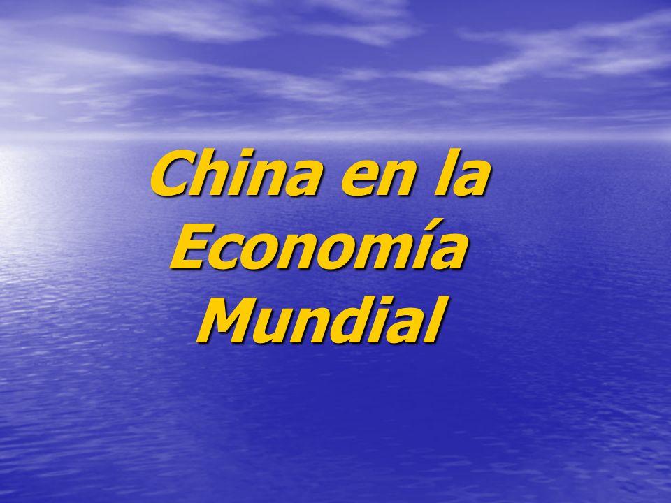 China en la Economía Mundial