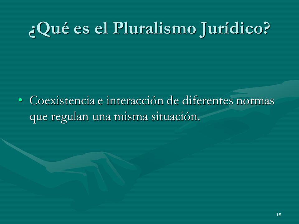 18 ¿Qué es el Pluralismo Jurídico.