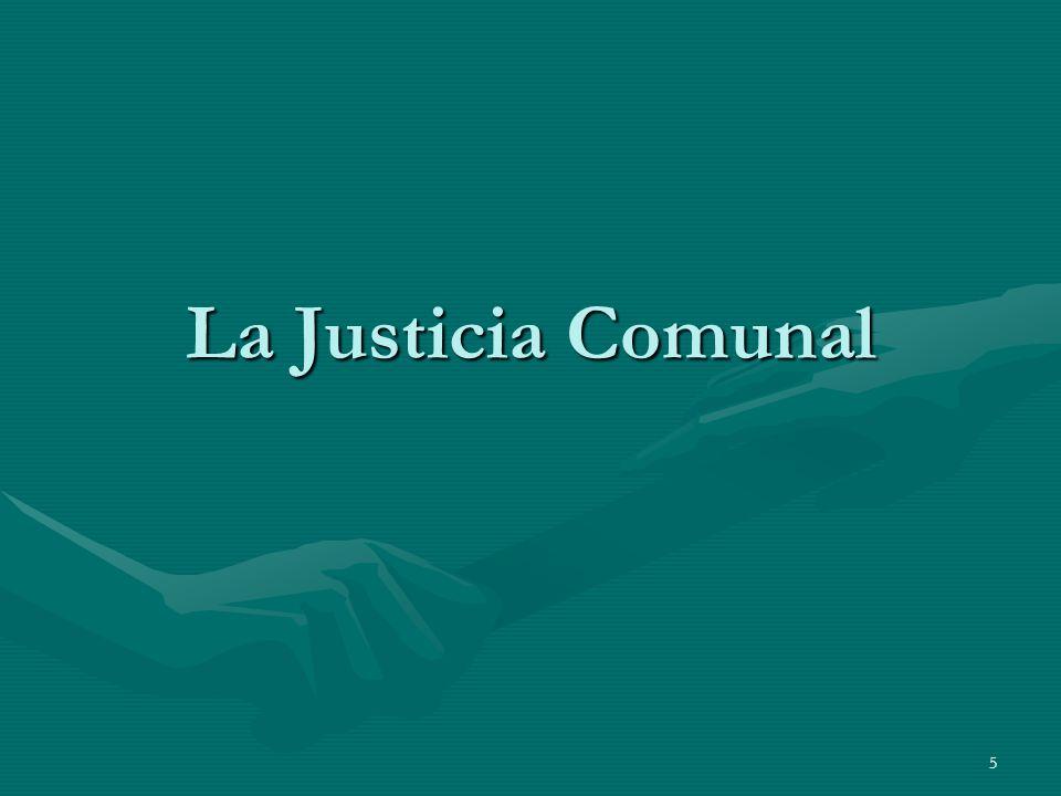 5 La Justicia Comunal