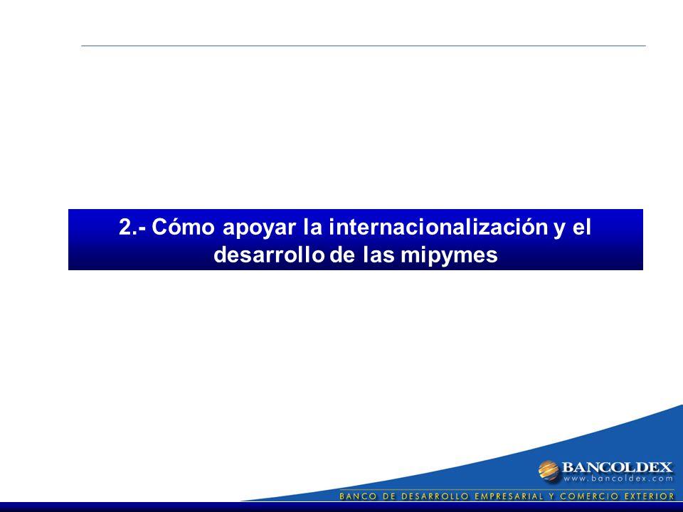 2.- Cómo apoyar la internacionalización y el desarrollo de las mipymes
