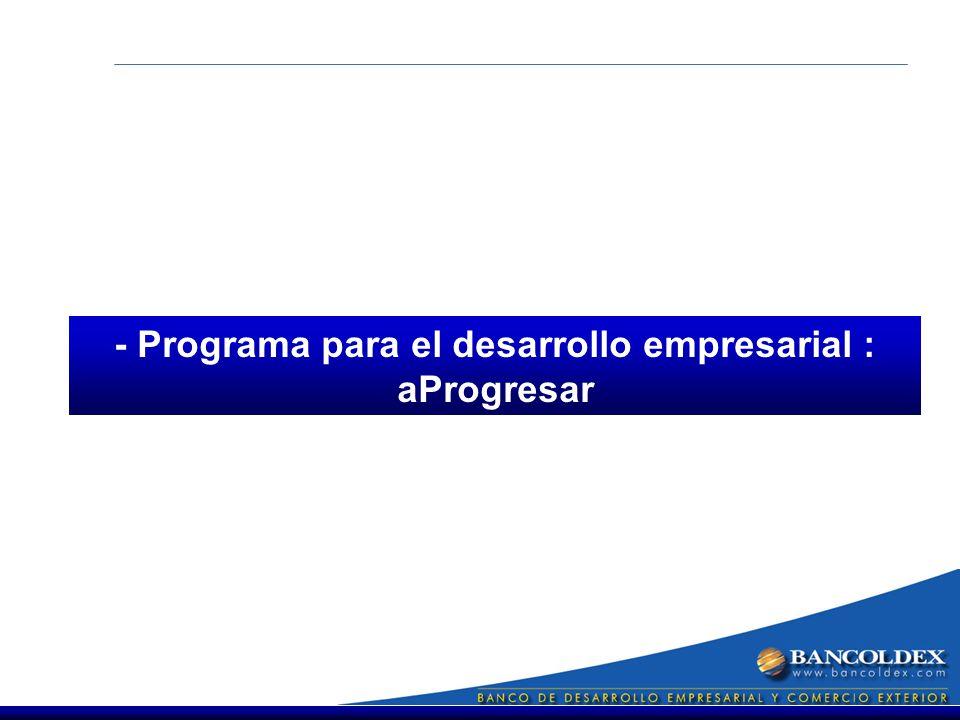 - Programa para el desarrollo empresarial : aProgresar