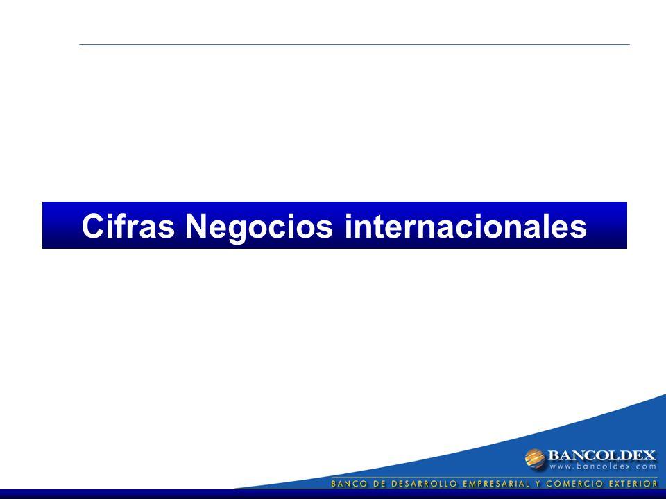 Cifras Negocios internacionales