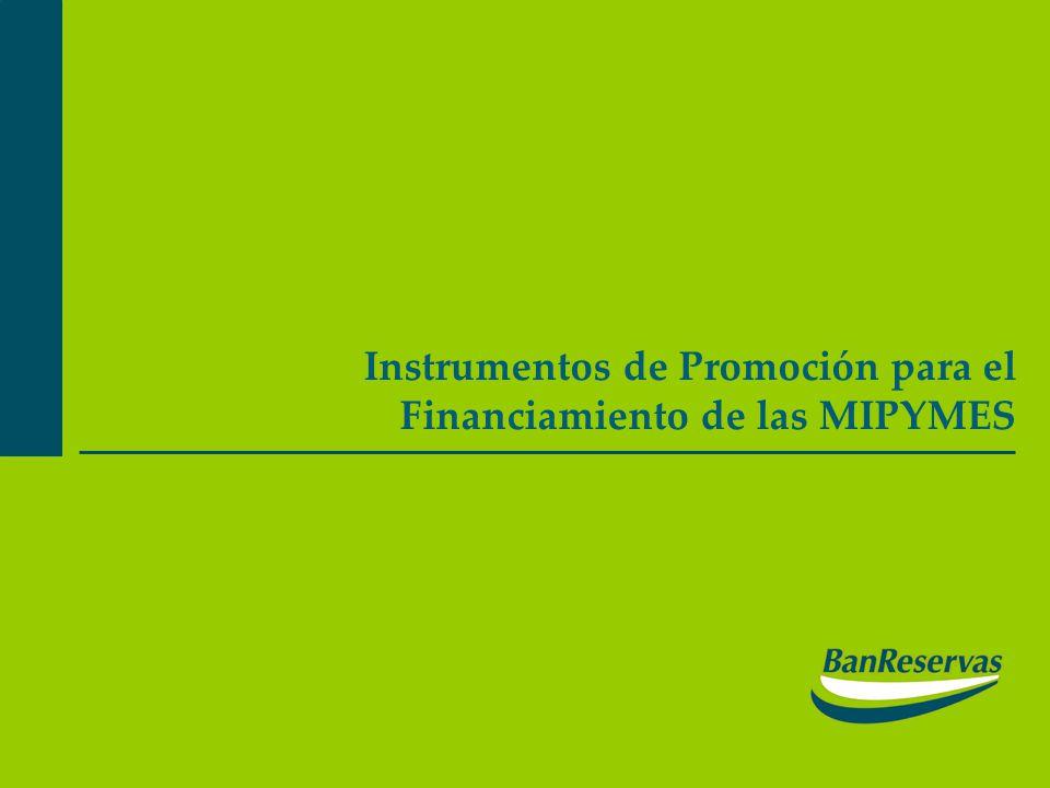 Instrumentos de Promoción para el Financiamiento de las MIPYMES