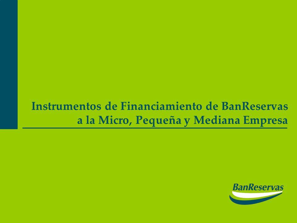 Instrumentos de Financiamiento de BanReservas a la Micro, Pequeña y Mediana Empresa