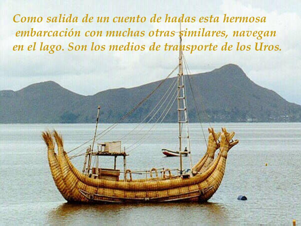 Islas hechas a mano por sus habitantes usando una antígua técnica a base de totora un tipo de paja liviana e impermeable. Islas flotantes como grandes