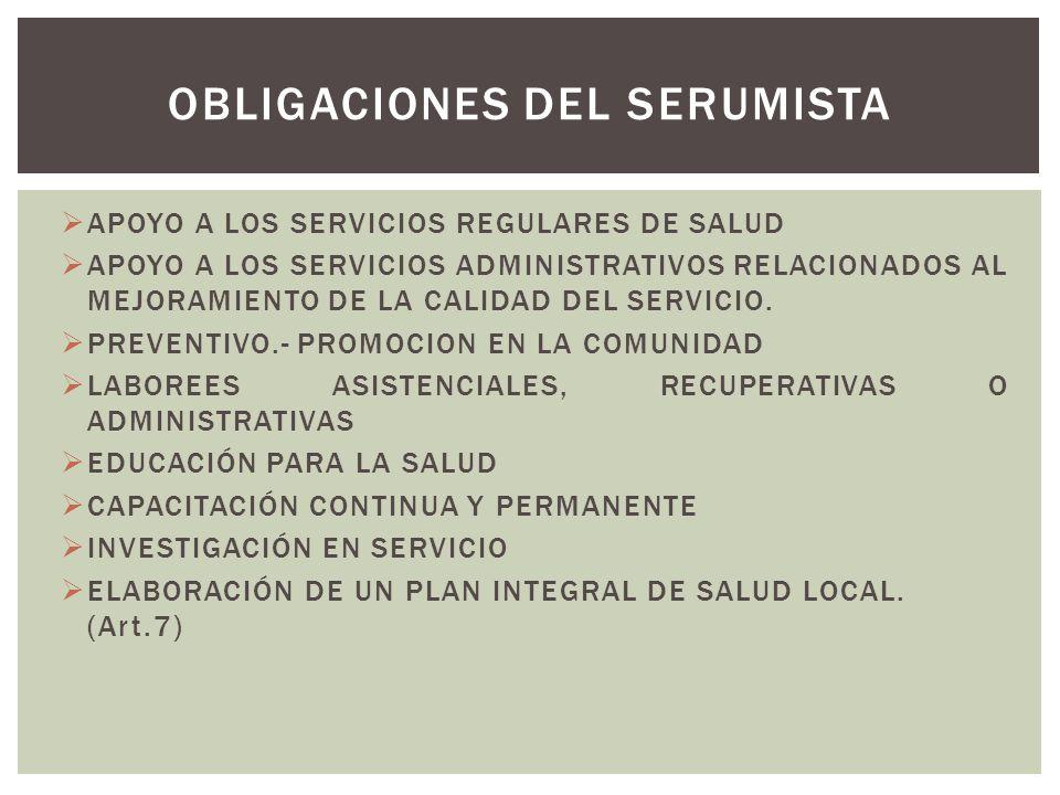 APOYO A LOS SERVICIOS REGULARES DE SALUD APOYO A LOS SERVICIOS ADMINISTRATIVOS RELACIONADOS AL MEJORAMIENTO DE LA CALIDAD DEL SERVICIO. PREVENTIVO.- P