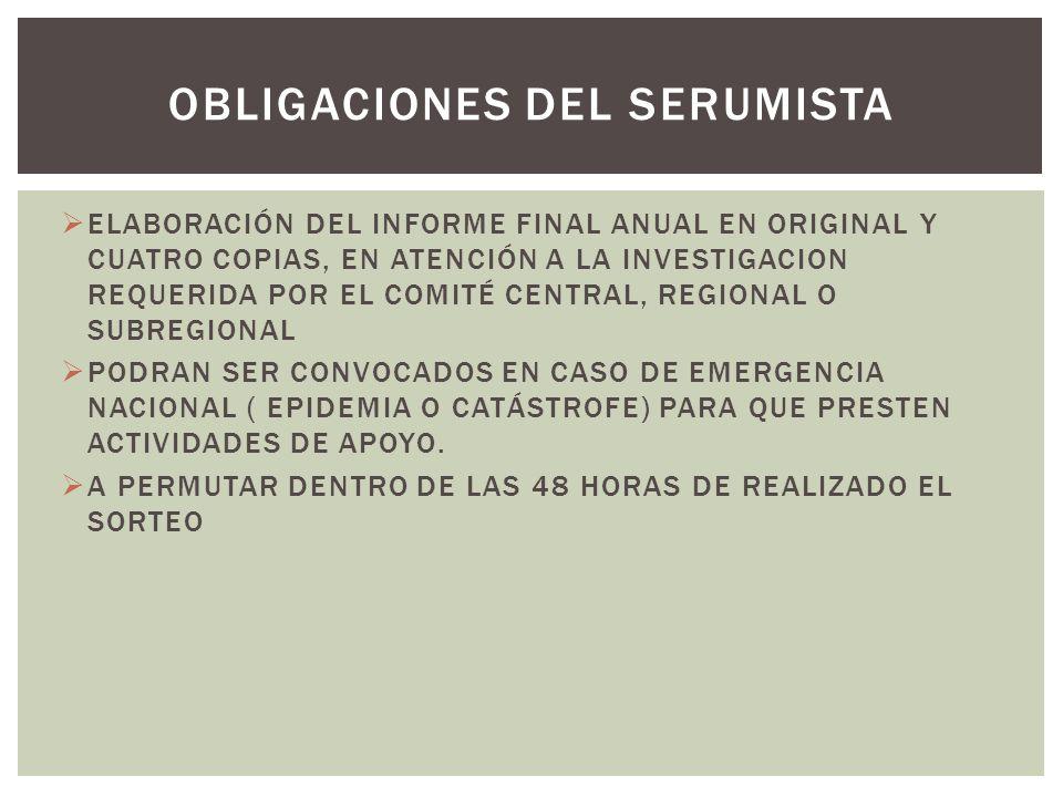 ELABORACIÓN DEL INFORME FINAL ANUAL EN ORIGINAL Y CUATRO COPIAS, EN ATENCIÓN A LA INVESTIGACION REQUERIDA POR EL COMITÉ CENTRAL, REGIONAL O SUBREGIONA